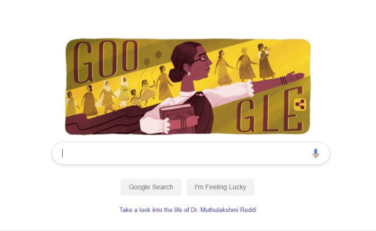 Google doodle remembers the first woman legislature Dr.Muthulakshmi Reddy on her birthday