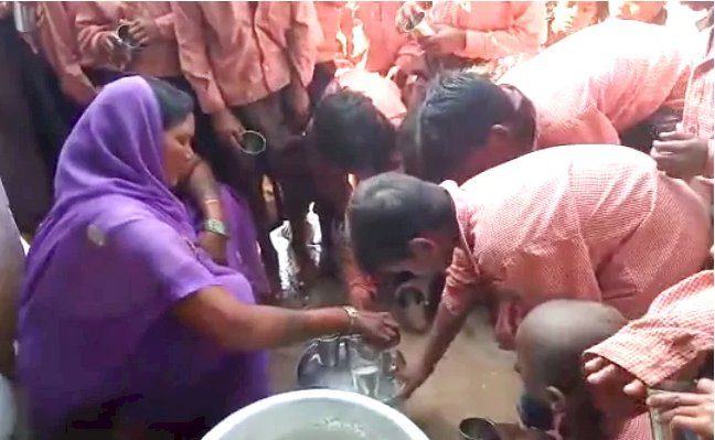 One litre milk diluted with water served to 81 state-board students in Sonbhadra UP