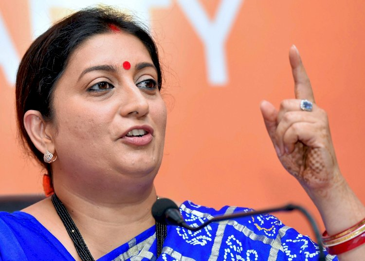 Congress looted country, PM Modi brought development: Smriti Irani