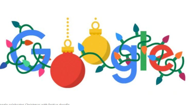 Google wishes Merry Christmas with a festive doodle