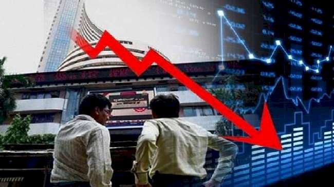 Sensex plunged by about 300 points