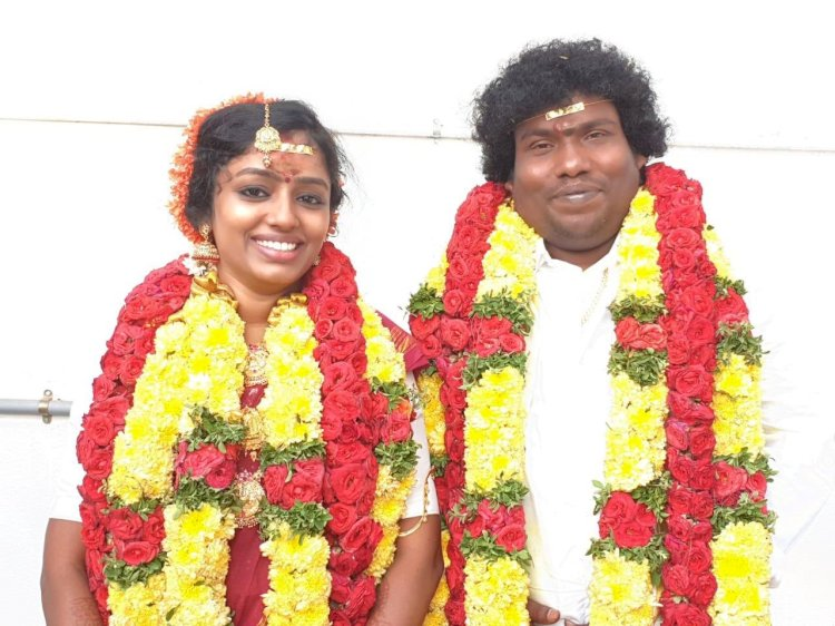 Yogi Babu ties knot with Manju Bhargavi at his Clan temple