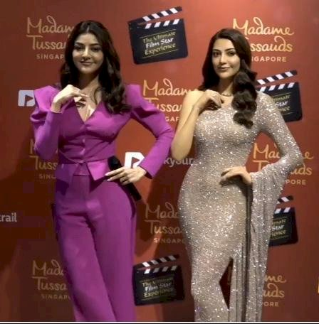 Kajal Aggarwal unviels her wax statue at Madame Tussauds