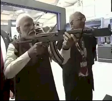 PM Modi fires 56-inch dhamaka  at DefEx 2020