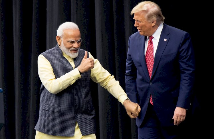 Modi promised 5-7 million people will attend Gujarat event says Donald Trump