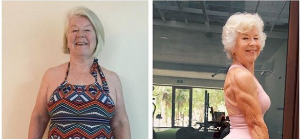 73-year-old woman's body transformation leaves the Internet mighty impressed