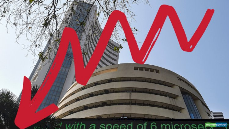 Sensex was down 1,203.18 points