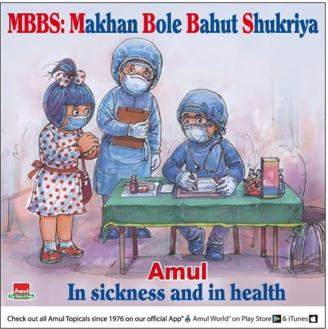 Amul releases new doodle to thank healthcare workers