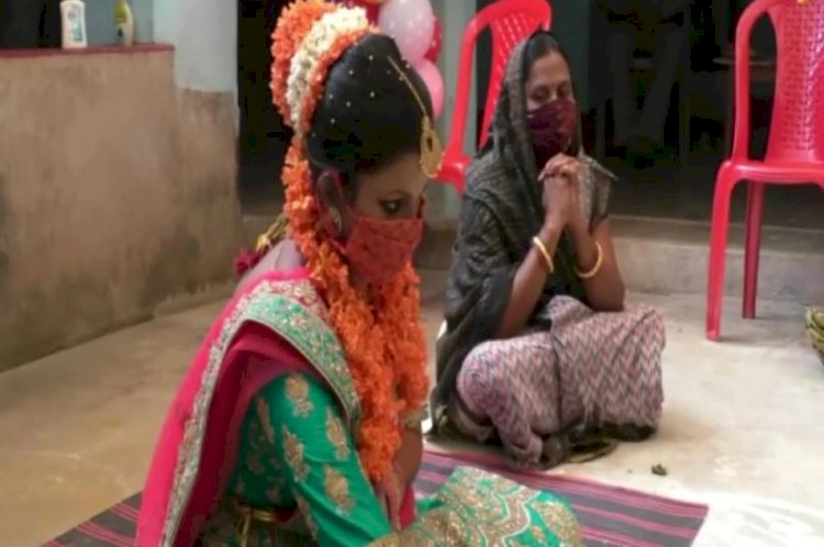 Couple in Odisha gets married with masks on and handful of guests