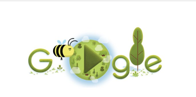 Google Doodle celebrates bees on 50th anniversary of Earth Day