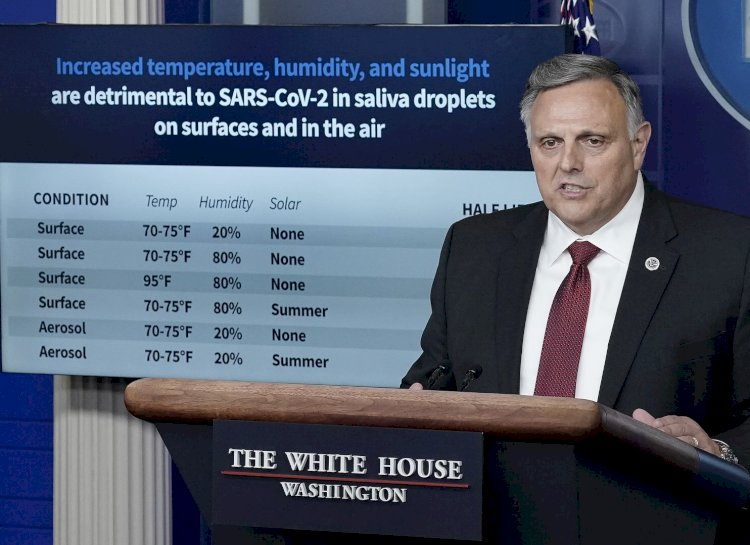 White House promotes new lab results suggesting heat and sunlight slow coronavirus