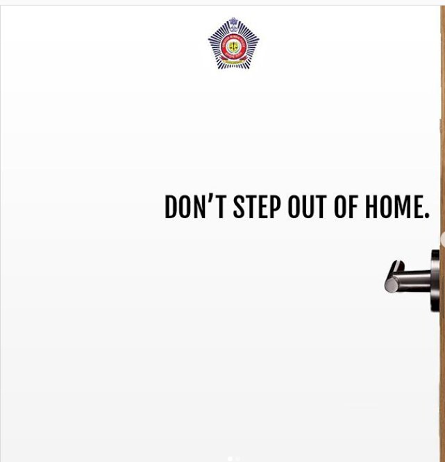 Don't step out of home: Mumbai Police warns netizens with creative Instagram post