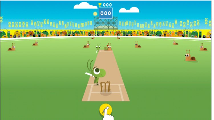 Google Doodle asks people to stay home and play games with old ICC Champions Trophy interactive animation