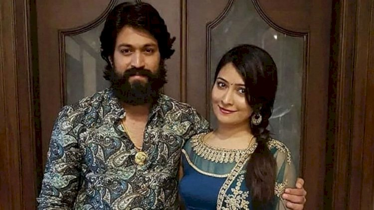 Yash and Radhika Pandit release photo of their baby boy.
