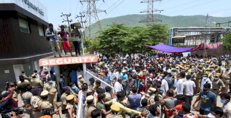 Protests in Visakhapatnam over gas leak incident, locals demand closure of LG Polymers chemical plant