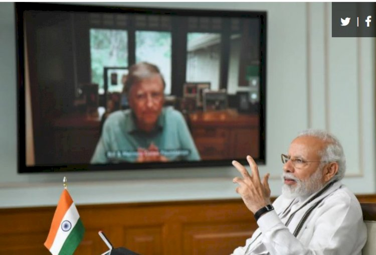 PM Modi discusses COVID-19 situation and vaccine to cure it with Bill Gates