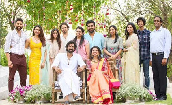 Rana Daggubati and Miheeka Bajaj's roka: Samantha and Naga Chaitanya are all smiles