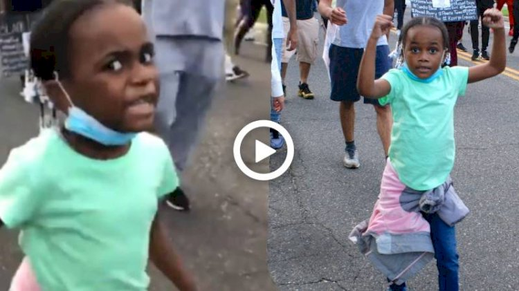 No justice, no peace: Little girl marches in Black Lives Matter protest. Viral video