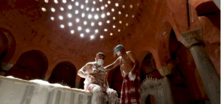 Foam alone: Turkish baths reopen but please keep your distance