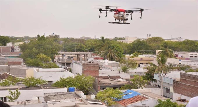 Complete lockdown  in Chennai, police use drones to monitor movement