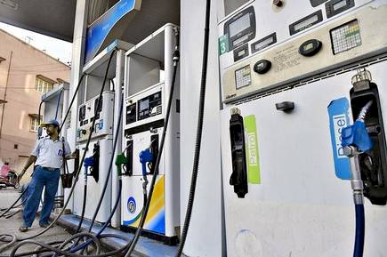 Petrol price hiked 25 paise, diesel 21 paise in 21st consecutive rate hike