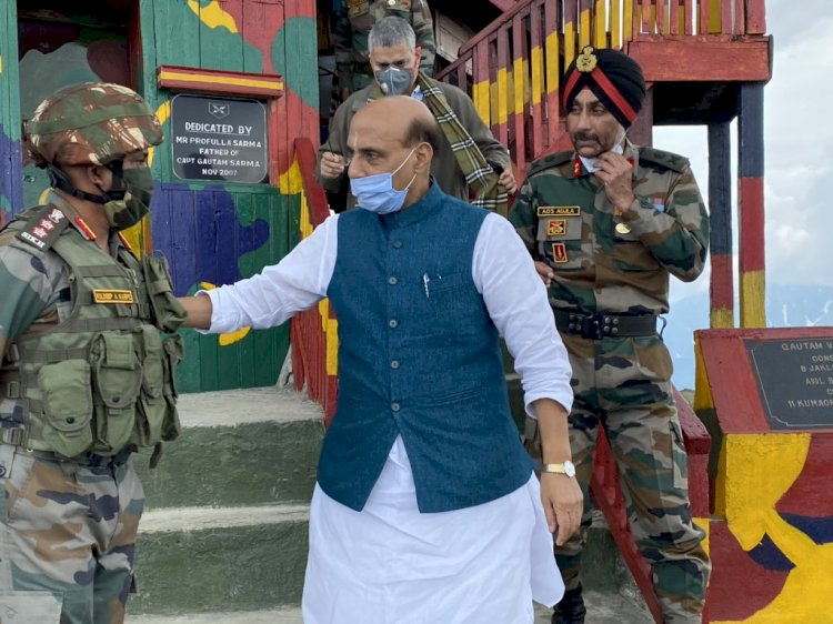 Proud of brave, courageous soldiers: Rajnath Singh after visiting forward post near LoC
