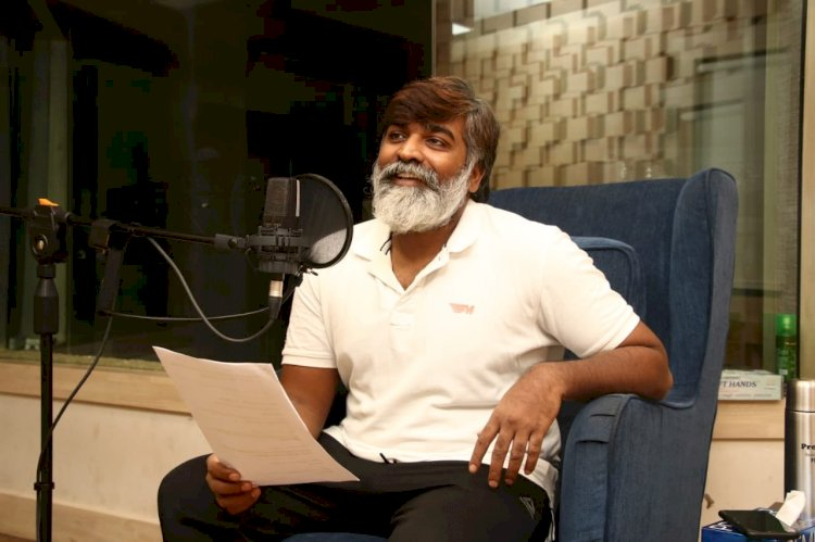 Vijay Sethupathi begins dubbing for SP Jananathan's Laabam.