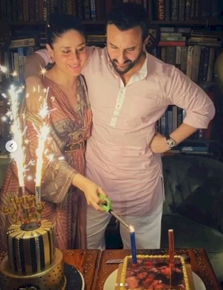 Pregnant Kareena Kapoor stuns in silk kaftan worth Rs 24k at Saif Ali Khan's birthday bash