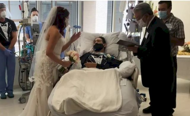 Man recovering from coronavirus marries fiance in hospital
