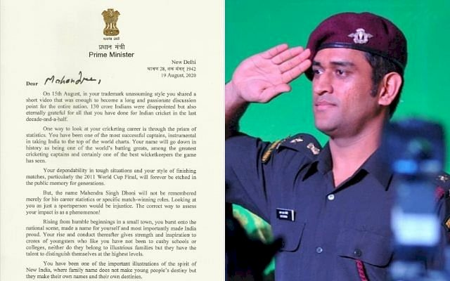 MS Dhoni grateful to PM Narendra Modi for warm letter after retirement: Thank you for the appreciation
