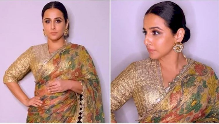 Vidya Balan is a vision to behold in gorgeous green kalamkari saree worth Rs 63k
