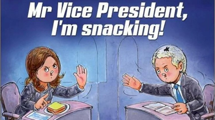 Amul shares new doodle featuring Kamala Harris and Mike Pence