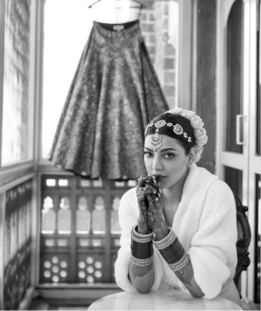 Kajal Aggarwal in new wedding pic is calm before the storm