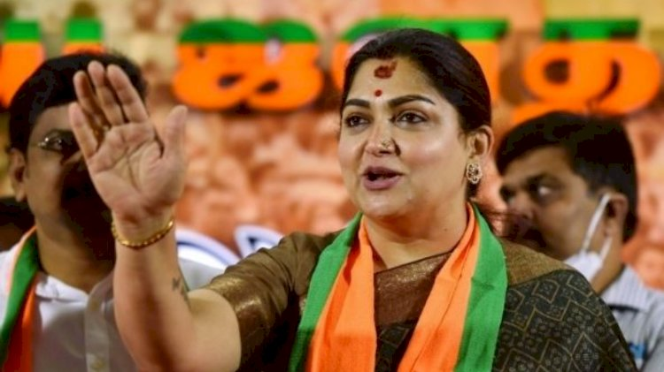 BJP leader Khushbu Sundar meets with accident in Tamil Nadu as truck rams into her car