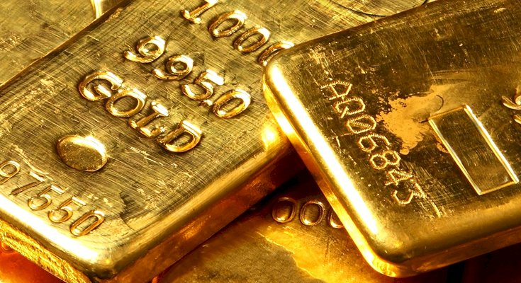 Gold trades lower and fells  by 0.1%