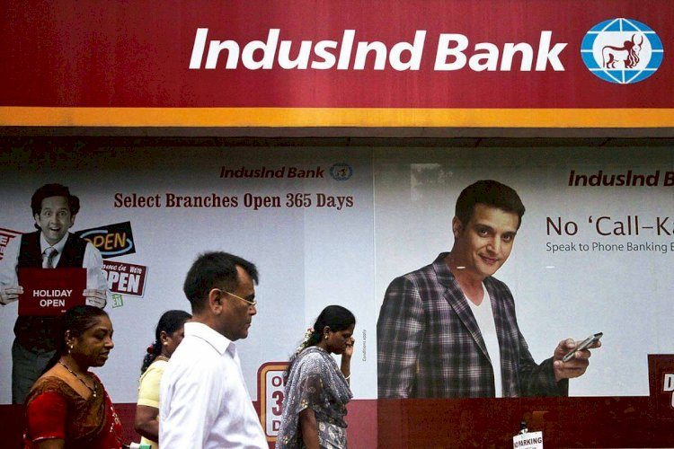 NSE :IndusInd Bank, Larsen were among the top losers